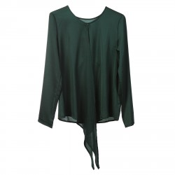 GREEN BLOUSE WITH FRONT OPENING