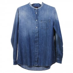 JEANS SHIRT WITH ROUND NECK
