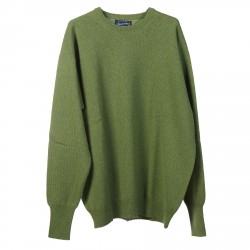 GREEN RIBBED PULLOVER
