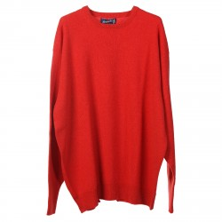 RED CORAL WOOL PULLOVER