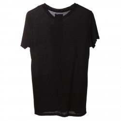 BLACK T SHIRT WITH ROCK N ROLL PRINTED