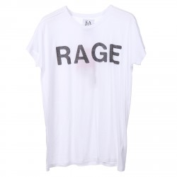 WHITE T SHIRT WITH PRINTED