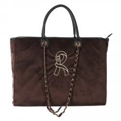 VIOLA BROWN LARGE SHOPPING BAG