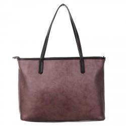 GRAFIC BROWN SHOPPING BAG