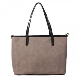 BORSA SHOPPING BEIGE MODELLO GRAFIC