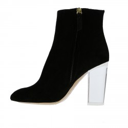 BLACK SUEDE LOW BOOT