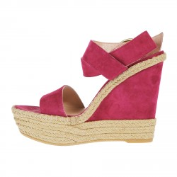FUCSIA SUEDE WEDGE