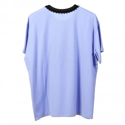 LIGHT BLUE T SHIRT WITH PRINTED FRONT