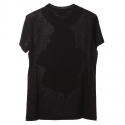 BLACK T SHIRT WITH FRONT STONES PRINT