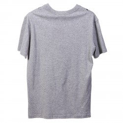 GREY T SHIRT WITH NECKLACE PRINTED