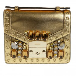 YELLOW BAG WITH GOLD STONES