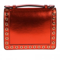 RED BAG WITH STUDS AND STONES