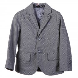 GRAY AND BLUE FANTASY BLAZER