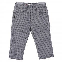 GREY PANTS WITH BLACK MINI RHOMBUS