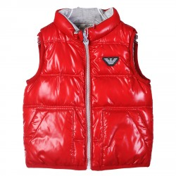 RED SLEEVLES PADDED JACKET