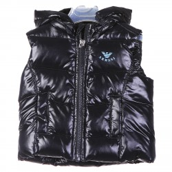 BLUE SLEEVLES PADDED JACKET WITH HOOD