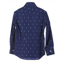BLUE SHIRT WITH DECORATION