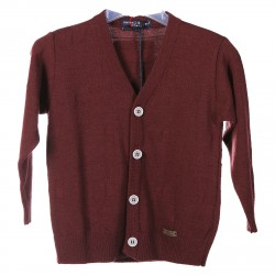 BORDEAUX CARDIGAN WITH POIS