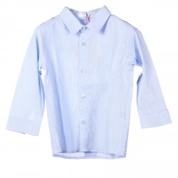 LIGHT BLUE SHIRT WITH MICRO LINES