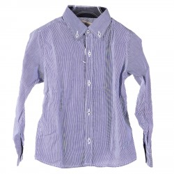 MICRO STRIPED SHIRT BLUE AND WHITE