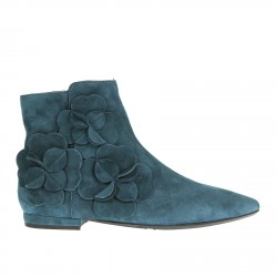 LIGHT BLUE SUEDE LOW BOOT