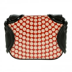 BLACK AND RED FANTASY LEATHER BAG