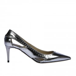 SILVER LEATHER DECOLLETE