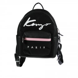 BLACK AND PINK PERFORATED BACKPACK