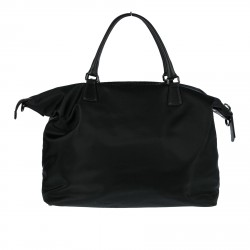 BLACK CLOTH BAG WITH HANDLES