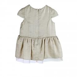 BEIGE LUREX DRESS