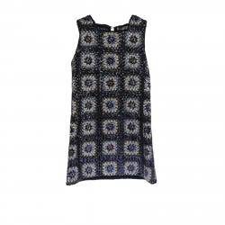 SLEEVLES DRESS WITH SEQUINS