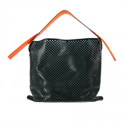 BLACK PERFORATED BAG