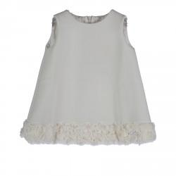 WHITE SLEEVLES DRESS