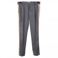 GREY PANTS WITH SIDE STRIPE