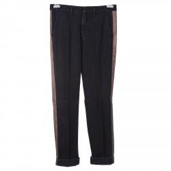 GREY PANTS WITH BEIGE SIDE STRIPE RIDGE MODEL