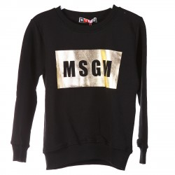 BLACK AND GOLD SWEATSHIRT WITH LOGO