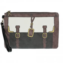 GRAFIC BROWN POCHETTE