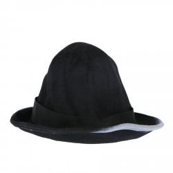 BLACK AND GREY WOOL CAP