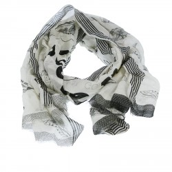 BLACK AND WHITE FANTASY SCARF