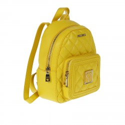 YELLOW QUILTED BACKPACK