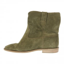 GREEN SUEDE LOW BOOT