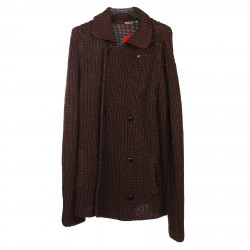 BROWN DOUBLEBREASTED CARDIGAN