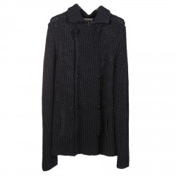 ANTHRACITE DOUBLEBREASTED CARDIGAN