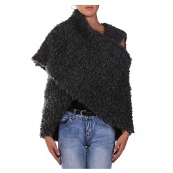 CHARCOAL GREY WOOL STOLE