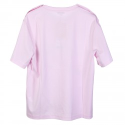 PINK T SHIRT WITH PRINTED LOGO