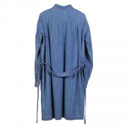 DENIM SHIRT DRESS WITH BELT