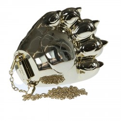 GOLD POCHETTE CAT PAW