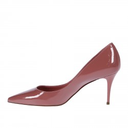 PINK PATENT LEATHER DECOLLETE