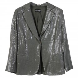GREEN BLAZER WITH SEQUINS