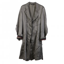 GREEN LINEN AND SILK TRENCH